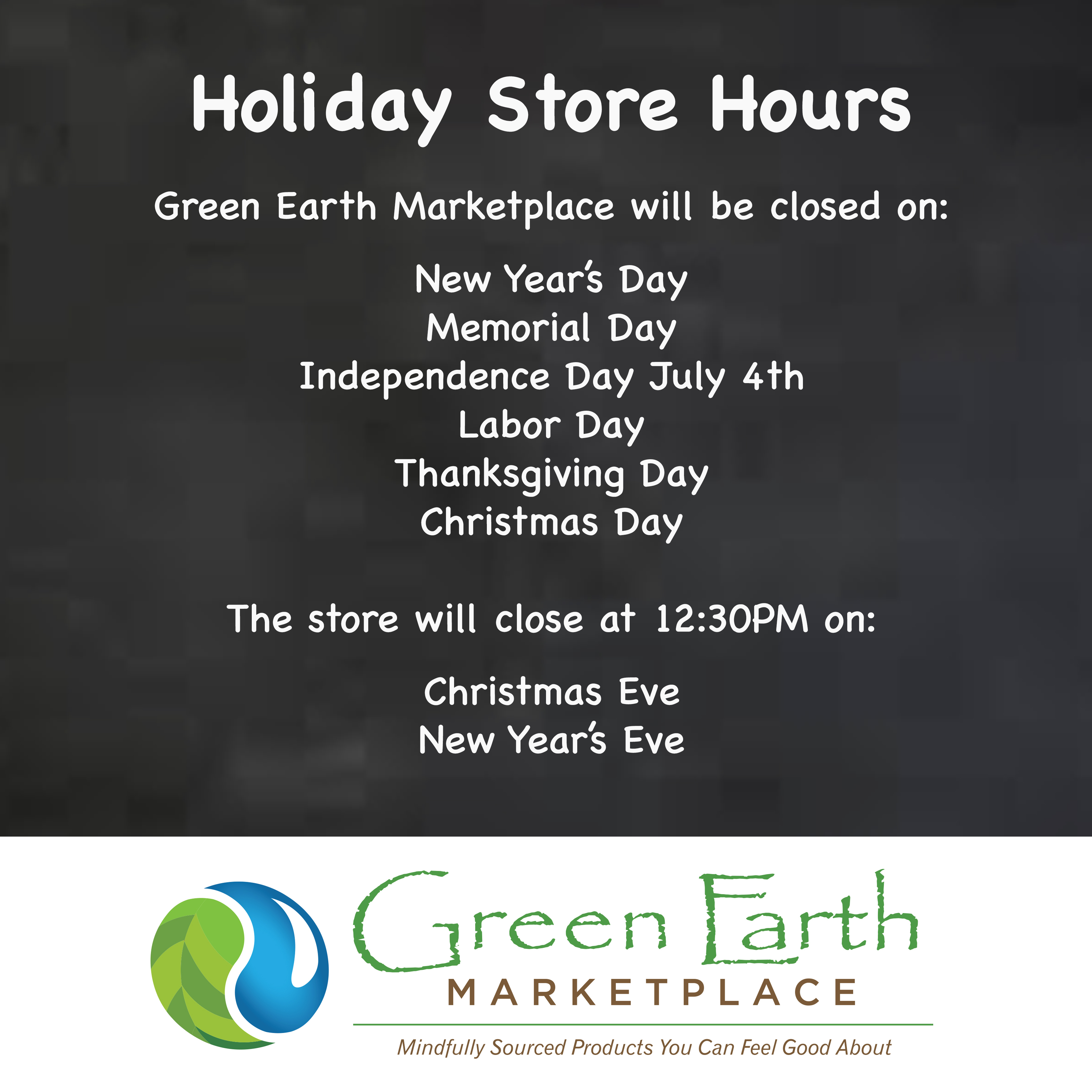 GEM Holiday Schedule
