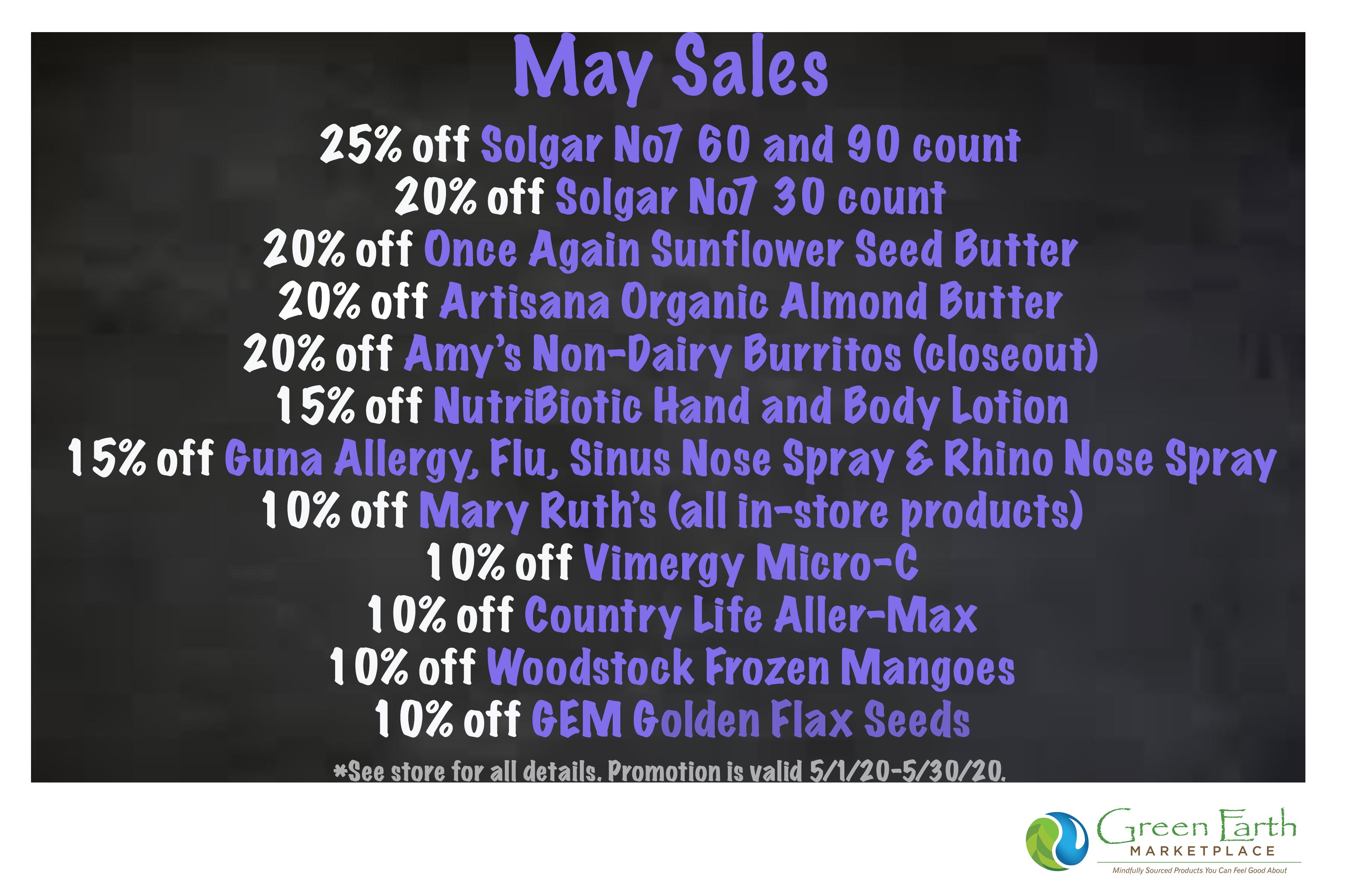 2020 May Sales