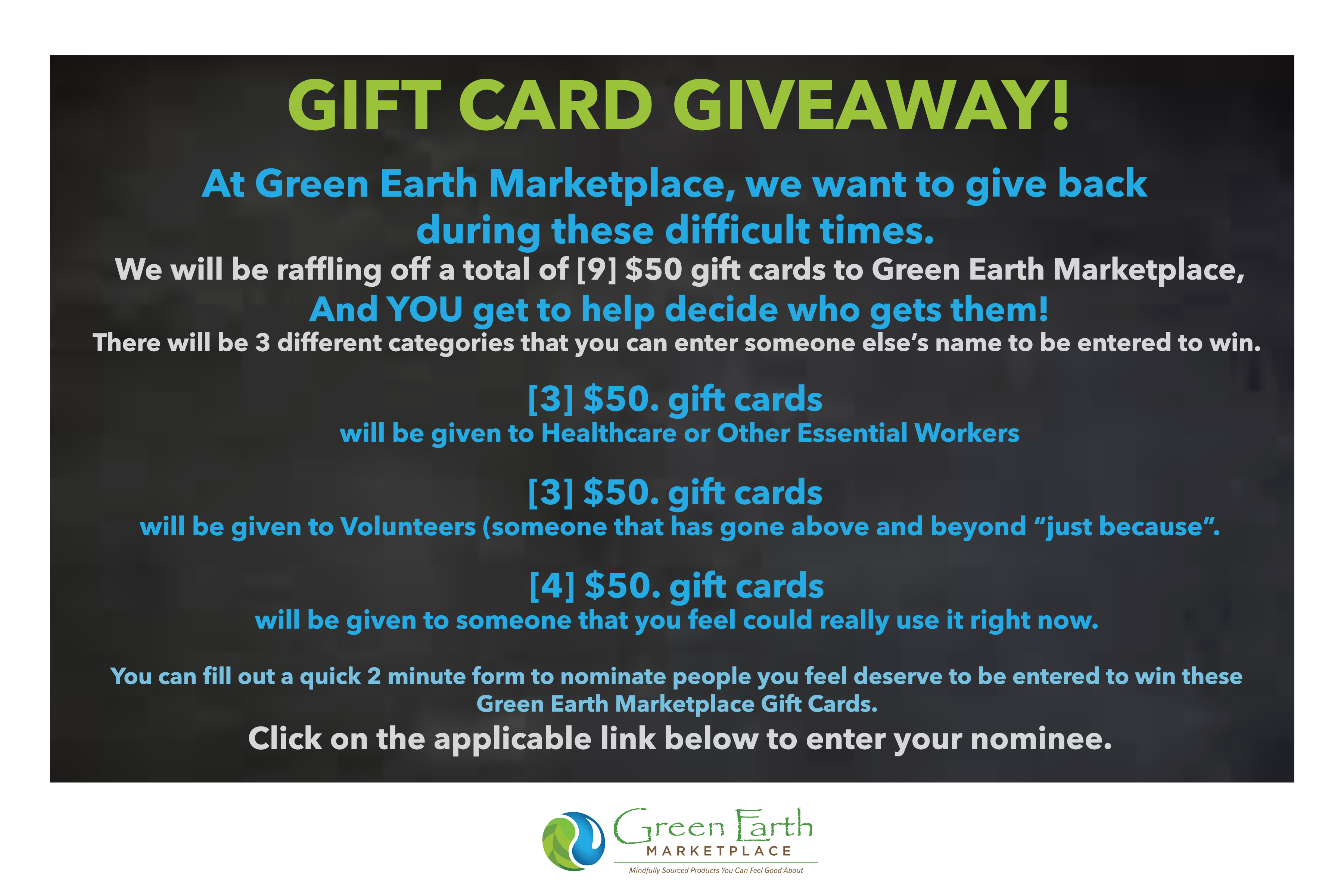 Gift Card Giveaway for website