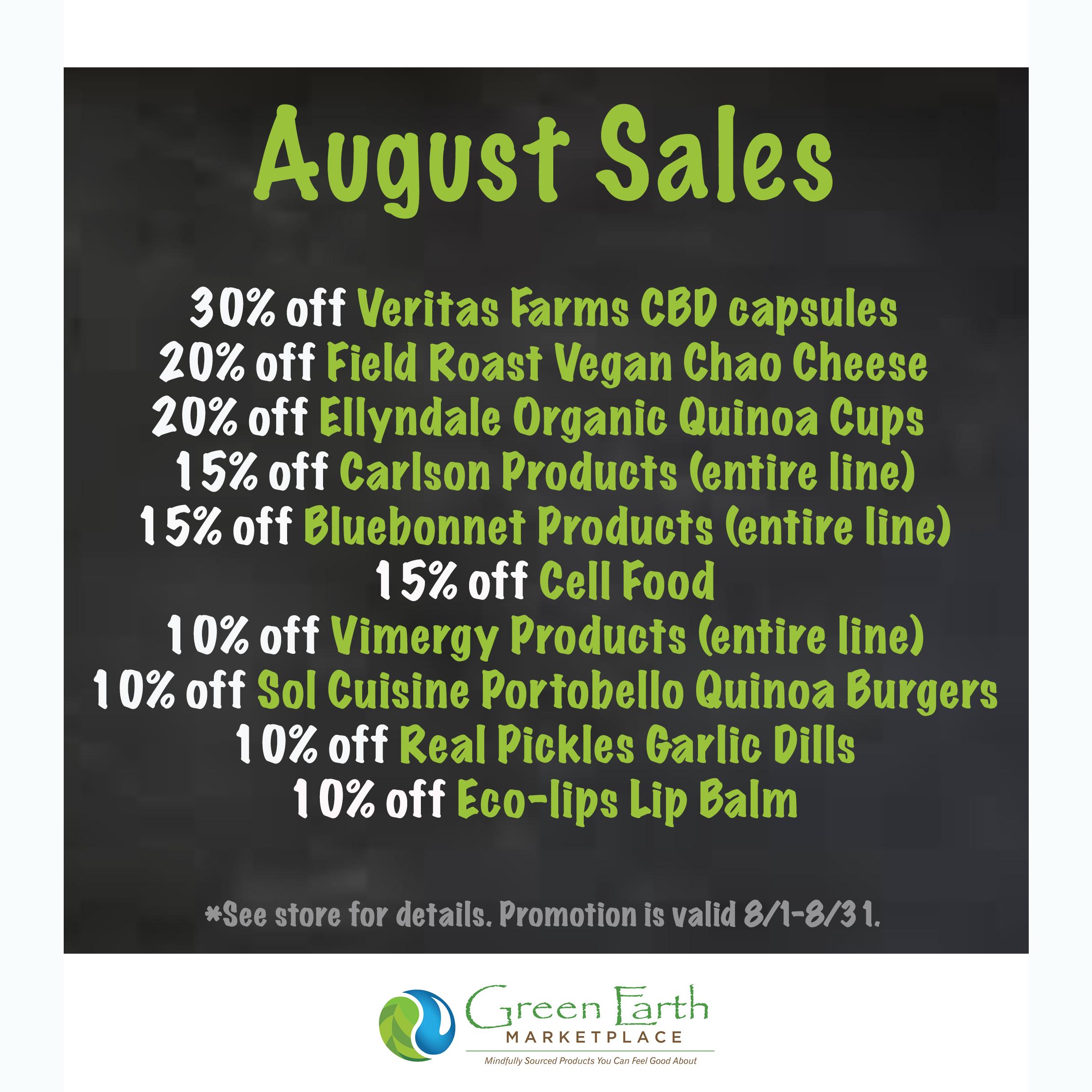 2020 August Sales