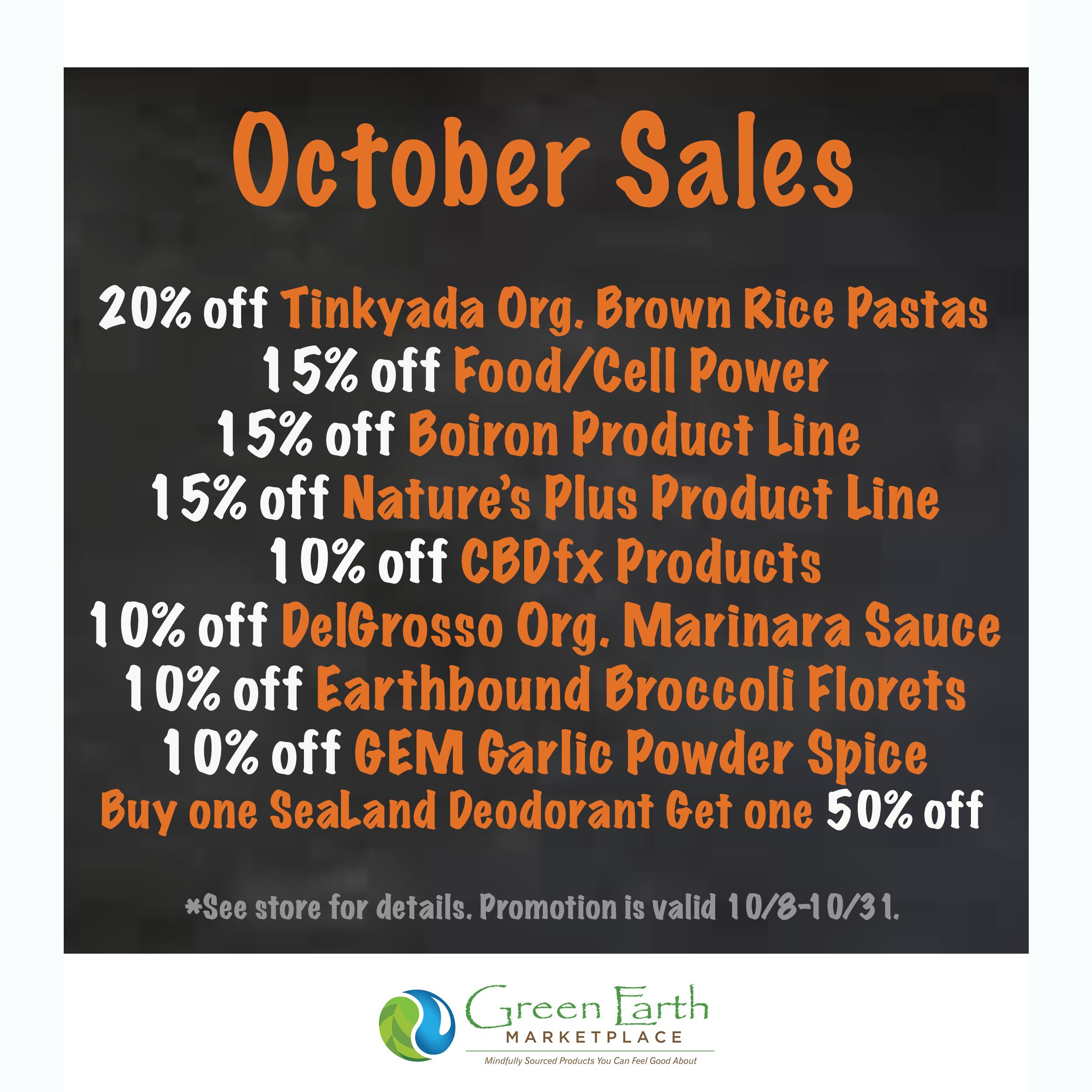 2020 October Sales
