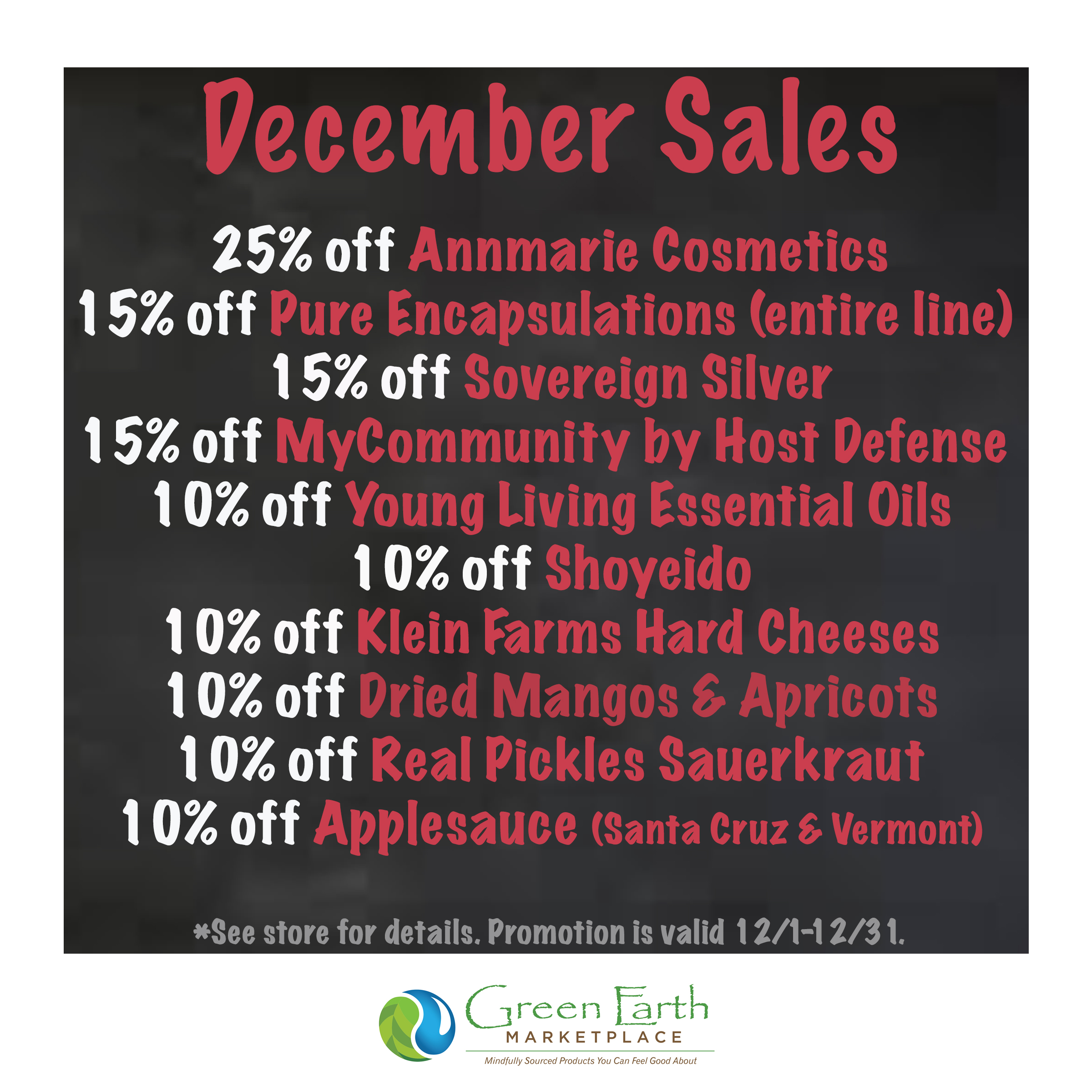 2020 December Sales